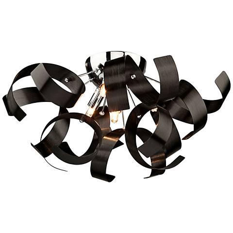 """Artcraft Bel Air 19"""" Wide Black Ceiling Light"""