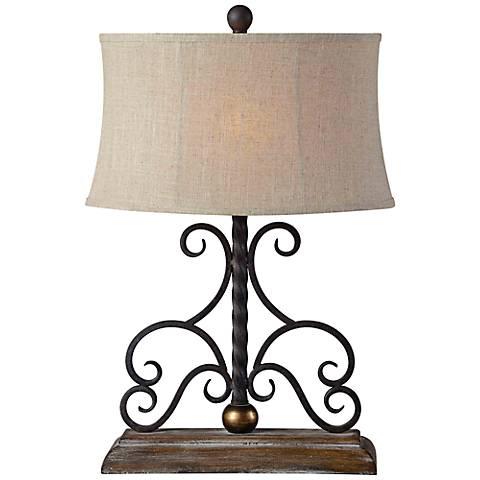 Houston Metal Scroll Table Lamp