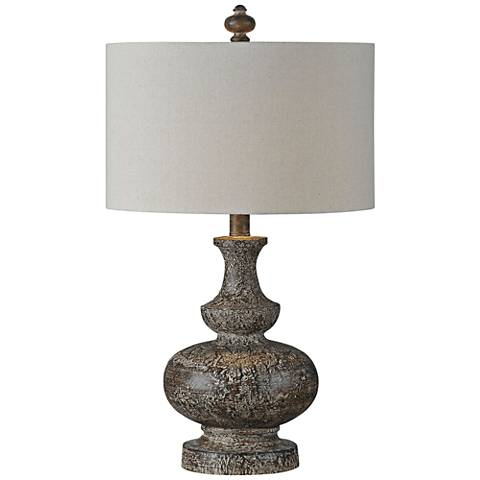 Linden Reclaimed Wood Urn Table Lamp