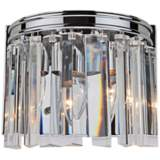 "Artcraft El Dorado 6 3/4"" High Chrome Wall Sconce"
