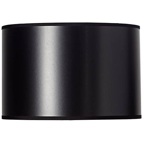 Black Paper Drum Shade with Silver Lining 12x12x8 (Spider)