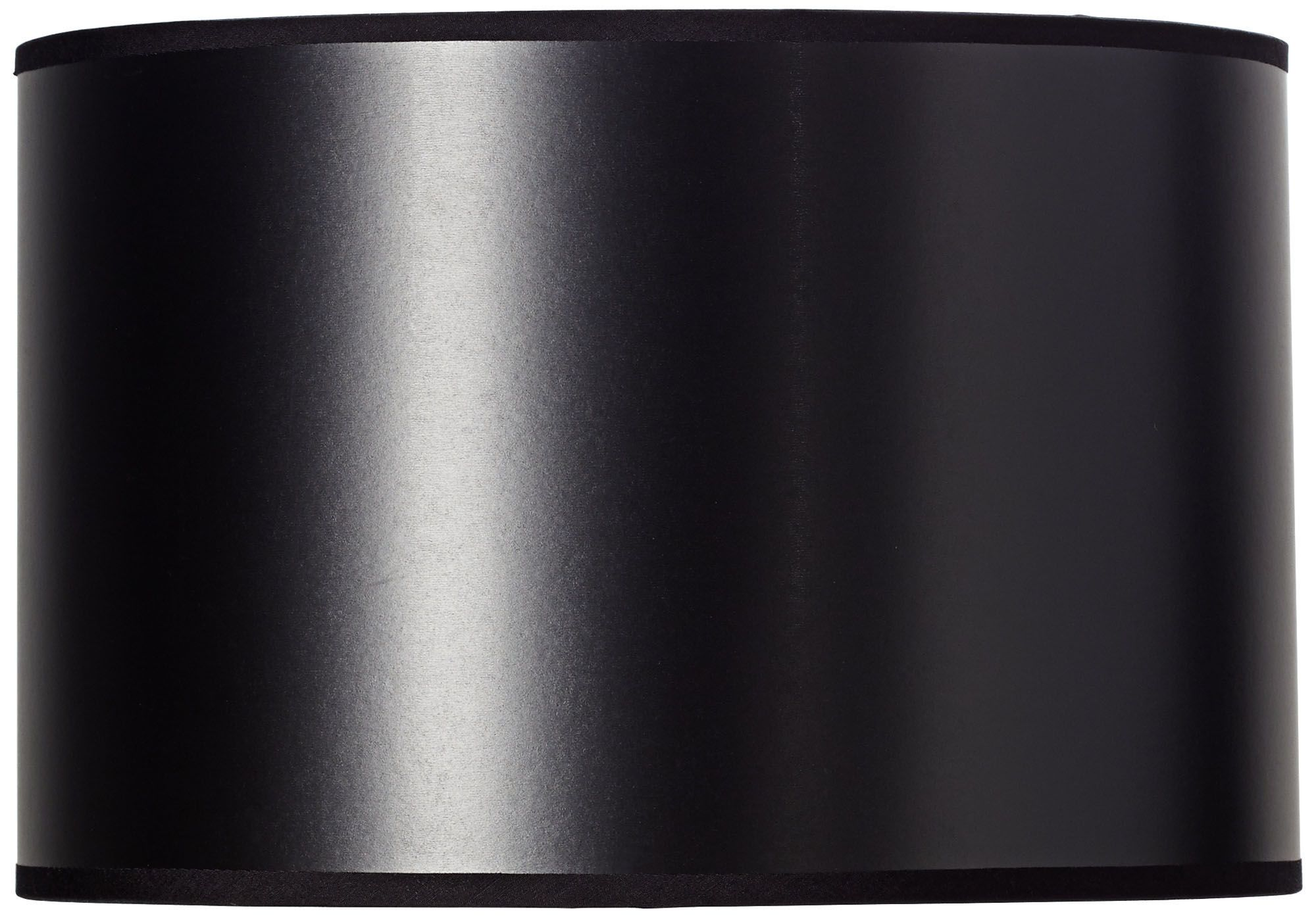 black paper drum shade with silver lining 12x12x8 - Drum Shade
