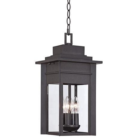 "Bransford 17 1/2"" High Black Iron Outdoor Hanging Light"