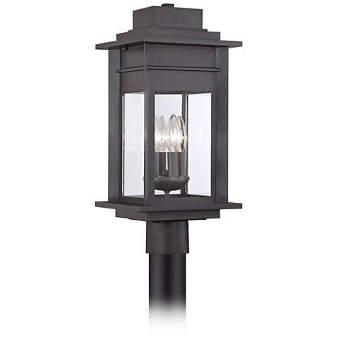 "Bransford 19 1/2"" High Black Iron Outdoor Post Light"