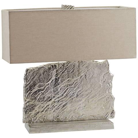 Dimond Slate Slab Bright Nickel Metal Table Lamp