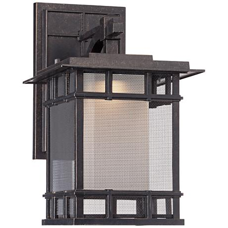 "Screened 14 1/2"" High Veranda Bronze LED Outdoor Wall Light"