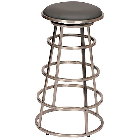 """Ringo Gray 26"""" Stainless Steel Backless Counter Stool"""