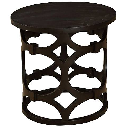 Lanini Wood Round End Table