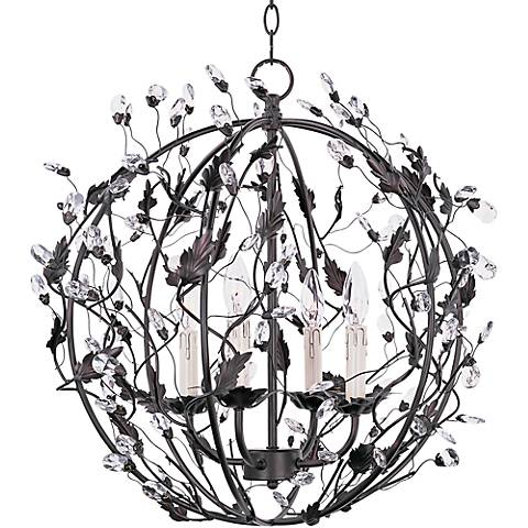 "Maxim Elegante 22""W Bronze Ball 4-Light Entry Pendant"