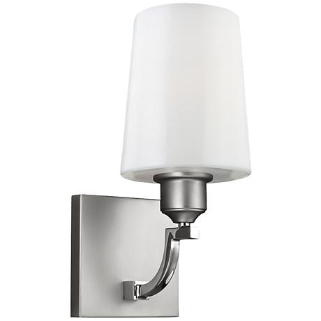 """Feiss Preakness 12 1/4"""" High Two Tone Nickel Wall Sconce"""