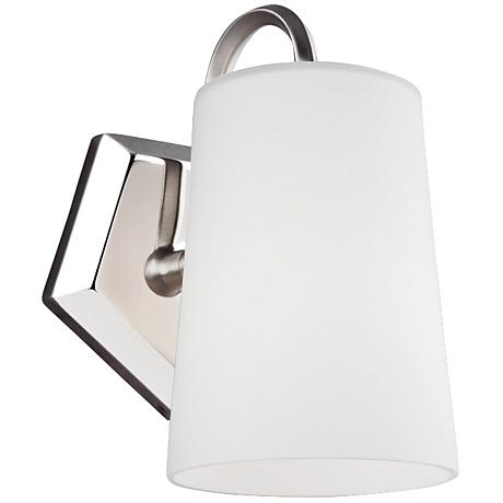 """Feiss Pentagram 9"""" High Two Tone Nickel Wall Sconce"""