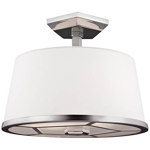 "Pentagram 12 1/2"" Wide Two Tone Nickel Ceiling Light"