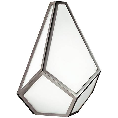 """Feiss Diamond 12"""" High Polished Nickel Wall Sconce"""