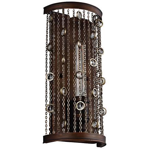 springs 14 high chestnut bronze wall sconce 8n272 lamps plus. Black Bedroom Furniture Sets. Home Design Ideas