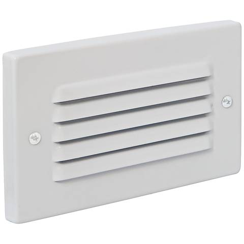 Horizontal Indoor/Outdoor White Louvered LED Step Light
