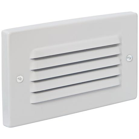 Horizontal Indoor/Outdoor White Louvered LED Step Light - #8N297 Lamps Plus