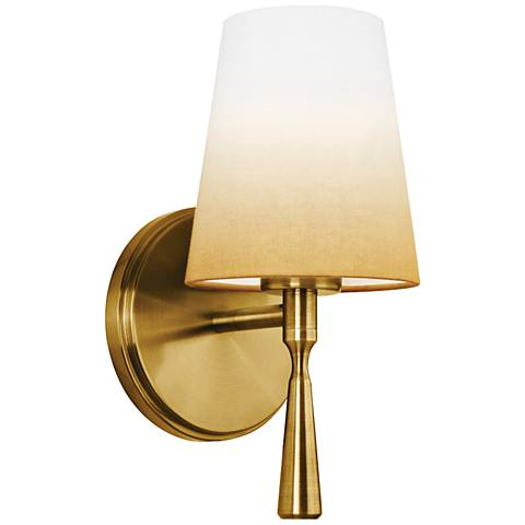 "Feiss Tori 10 1/2"" High Bali Brass Wall Sconce"