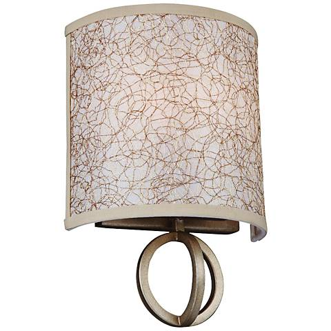 "Parchment Park 11 3/4"" High Burnished Silver Wall Sconce"