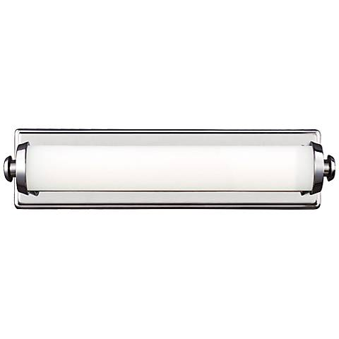 "Feiss Edgebrook 18"" Wide Polished Nickel LED Bath Light"