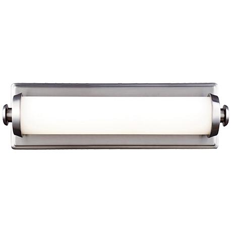 "Feiss Edgebrook 4 3/4"" High Satin Nickel LED Wall Sconce"