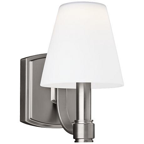 """Feiss Leddington 9 1/4"""" High Satin Nickel LED Wall Sconce"""