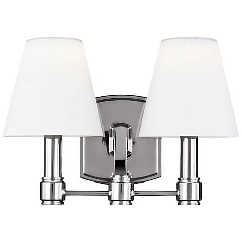 "Leddington 13 1/4"" Wide Polished Nickel LED Bath Light"