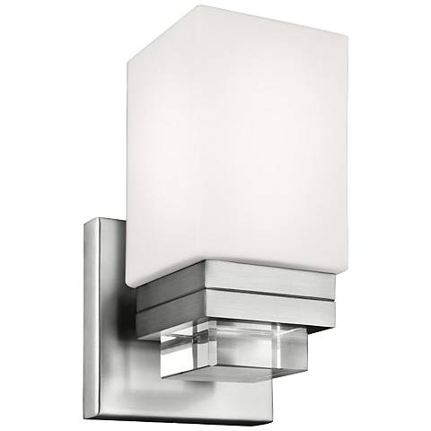 "Feiss Maddison 8 3/4"" High Satin Nickel Wall Sconce"