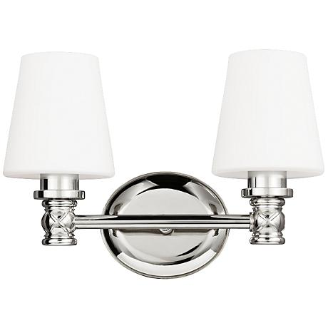 "Feiss Xavierre 14"" Wide Polished Nickel Bath Light"