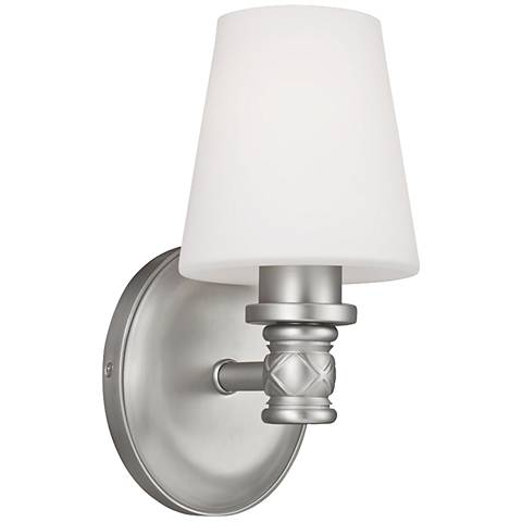 "Feiss Xavierre 10 1/4"" High Satin Nickel Wall Sconce"