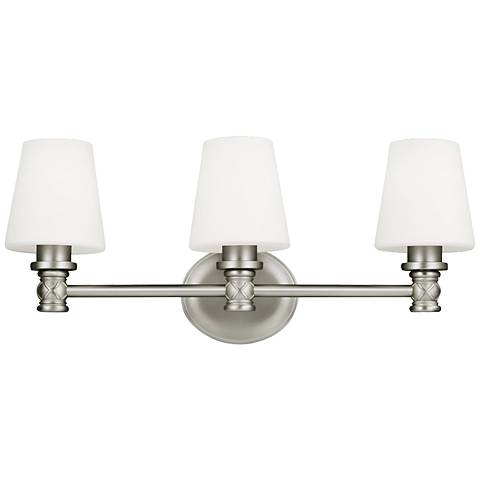 "Feiss Xavierre 23"" Wide Satin Nickel Bath Light"