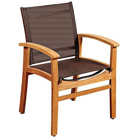 Amazonia Fortuna Teak Wood Outdoor Dining Chair