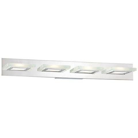 """Possini Euro Emilio 36 1/2"""" Wide Chrome LED Bath Light"""
