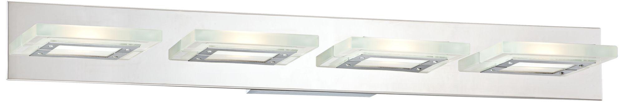 Possini Euro Emilio 36 1/2  Wide Chrome LED Bath Light  sc 1 st  L&s Plus & LED Bathroom Lighting - LED Vanity Lights and Light Bars | Lamps Plus azcodes.com