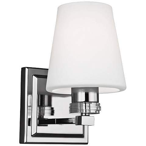 "Feiss Rouen 8 3/4"" High Polished Nickel Wall Sconce"