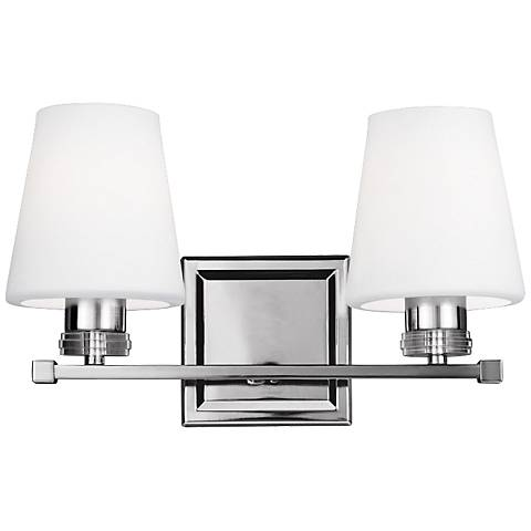 "Feiss Rouen 14 1/4"" Wide Polished Nickel Bath Light"