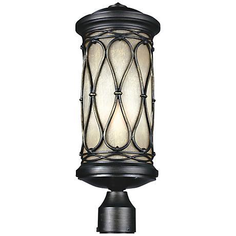 """Wellfeet 19 3/4"""" High Aged Bronze Outdoor Post Light"""