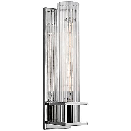 """Hudson Valley Sperry 13"""" High Polished Nickel Wall Sconce"""
