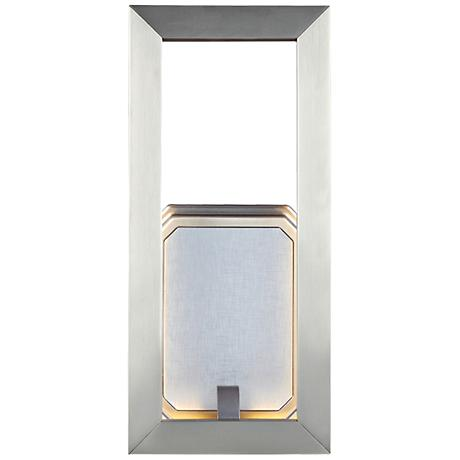 """Feiss Khloe 12"""" High Satin Nickel LED Wall Sconce"""