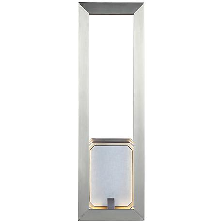 """Feiss Khloe 18"""" High Satin Nickel LED Wall Sconce"""