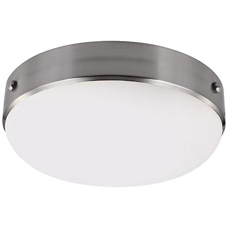"Feiss Cadence 13"" Wide Brushed Steel Ceiling Light"