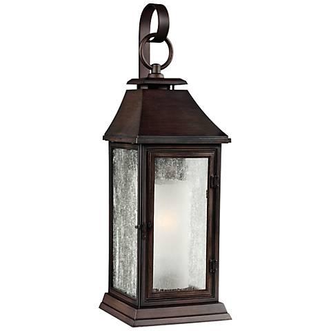 Copper Outdoor Wall Lamps : Feiss Shepherd 19