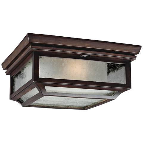 "Feiss Shepherd 13""W Heritage Copper Outdoor Ceiling Light"