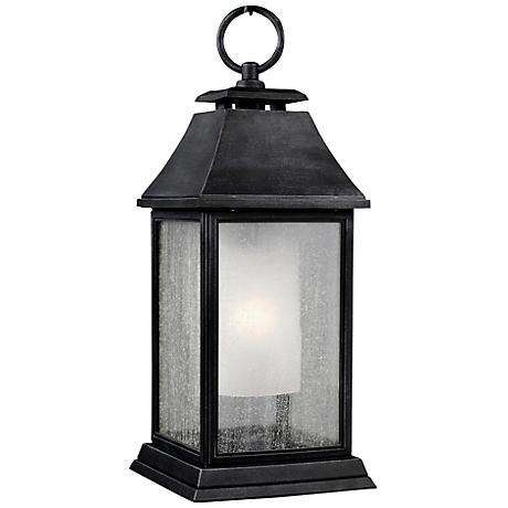 """Feiss Shepherd 21""""H Dark Zinc Outdoor Hanging Light"""