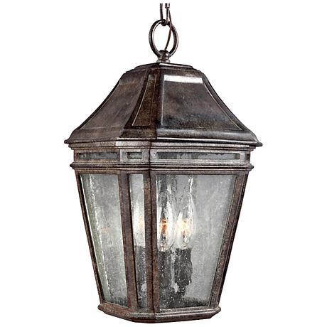 """Feiss Londontowne 15"""" High Chestnut Outdoor Hanging Light"""