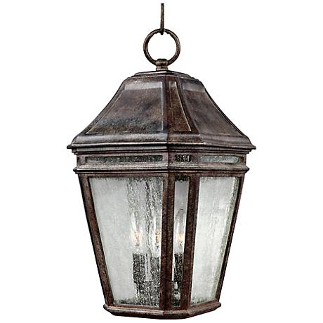 "Feiss Londontowne 17 1/4""H Chestnut Outdoor Hanging Light"