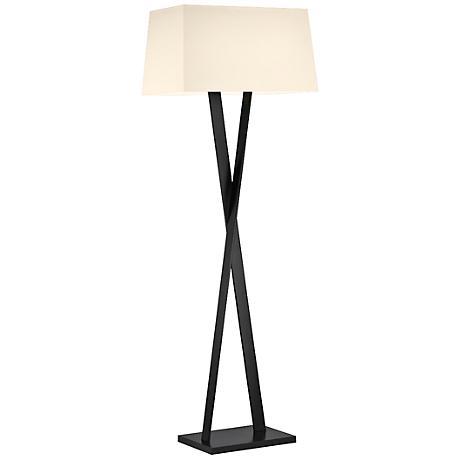 Sonneman X Satin Black Modern Floor Lamp