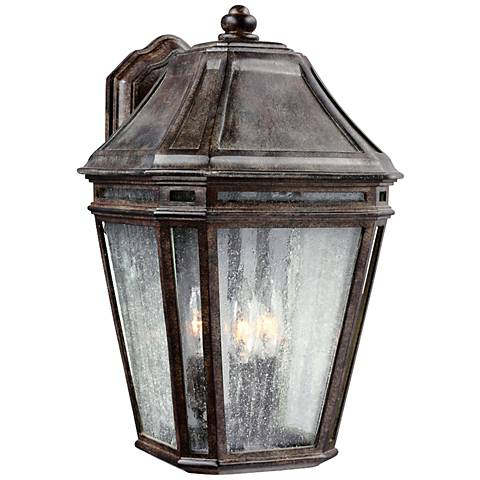 "Feiss Londontowne 16"" High Chestnut Outdoor Wall Light"