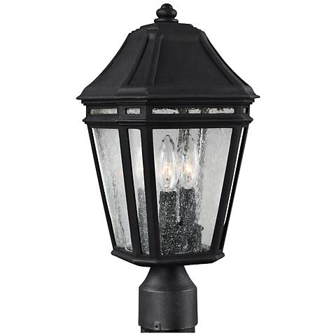 "Feiss Londontowne 17"" High Black Outdoor Post Light"