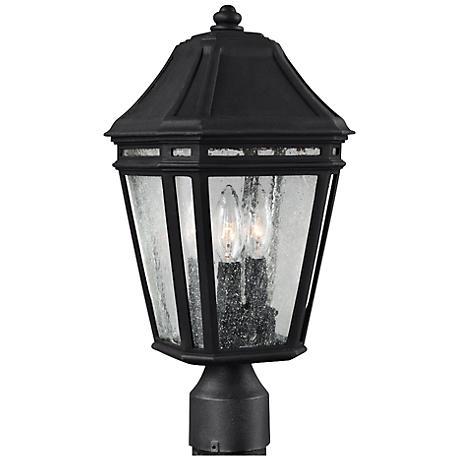 """Feiss Londontowne 17"""" High Black Outdoor Post Light"""