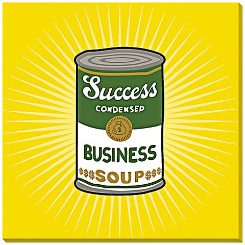 "Success Condensed 24"" Square Canvas Wall Art"